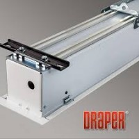 "Draper 119"" 16:9 Access Fit V, Electric, Ceiling Recessed, tab-tensioned ReAct Screen"